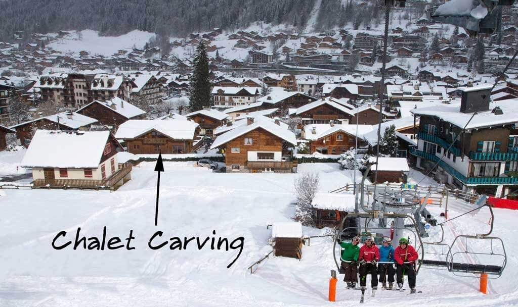 G Chalet Carving – winter 2
